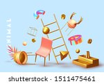 chaos abstract background with... | Shutterstock .eps vector #1511475461