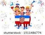 croatians flag croatia icon ...   Shutterstock .eps vector #1511486774