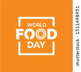 world food day vector design... | Shutterstock .eps vector #1511498951