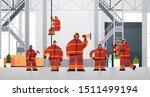 firemen team standing together... | Shutterstock .eps vector #1511499194