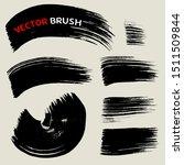 dry brush texture background...   Shutterstock .eps vector #1511509844