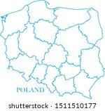 poland map blue color vector | Shutterstock .eps vector #1511510177