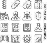medical vector line icon set.... | Shutterstock .eps vector #1511523551