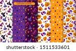 halloween seamless pattern with ...   Shutterstock .eps vector #1511533601