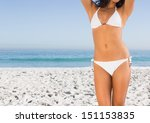 perfect slim body of attractive ... | Shutterstock . vector #151153835