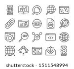 20 seo icons. search engine... | Shutterstock .eps vector #1511548994