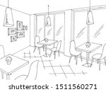 cafe interior graphic black... | Shutterstock .eps vector #1511560271
