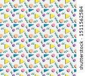 retro 80s pattern seamless tile ... | Shutterstock .eps vector #1511562584