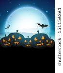 halloween moonlight night... | Shutterstock .eps vector #151156361