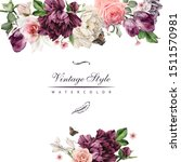 greeting card with flowers ... | Shutterstock . vector #1511570981