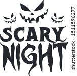 scary night design vector... | Shutterstock .eps vector #1511596277