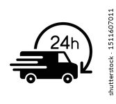 shipping fast delivery 24h van... | Shutterstock .eps vector #1511607011