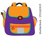 school bag on white background. ... | Shutterstock .eps vector #151162415