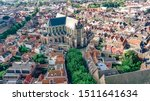 Aerial Drone View Of Leiden...