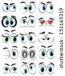 some cartoon eyes expressing... | Shutterstock .eps vector #151165319