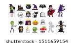 huge collection of halloween... | Shutterstock .eps vector #1511659154
