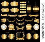 a golden collection of various... | Shutterstock . vector #1511662364