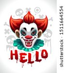 scary bad clown face. cool... | Shutterstock .eps vector #1511664554