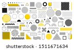 set of 100 geometric shapes.... | Shutterstock .eps vector #1511671634