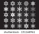 Set Of Vector Snowflakes. File...