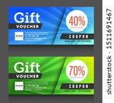 blue  green gift voucher... | Shutterstock .eps vector #1511691467