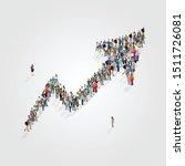 infographic of people standing... | Shutterstock .eps vector #1511726081
