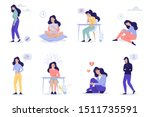 depression signs and symptom.... | Shutterstock .eps vector #1511735591