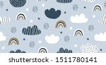 childish seamless pattern with... | Shutterstock .eps vector #1511780141