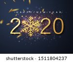 happy new 2020 year. holiday... | Shutterstock .eps vector #1511804237