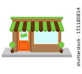 vector store front or shop with ... | Shutterstock .eps vector #151180814