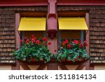Window Boxes With Poppies And...
