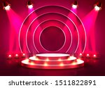 stage podium with lighting ... | Shutterstock .eps vector #1511822891
