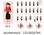 set of working business woman.... | Shutterstock .eps vector #1511826764