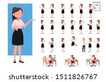 set of working business woman.... | Shutterstock .eps vector #1511826767