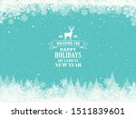 merry christmas and new year... | Shutterstock .eps vector #1511839601