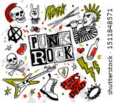 punk rock music set. punk rock... | Shutterstock .eps vector #1511848571