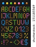 colorful beaded english... | Shutterstock .eps vector #151185569