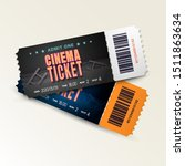 two cinema tickets isolated on... | Shutterstock .eps vector #1511863634