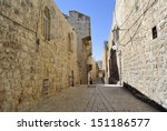 Ancient Narrow Street In Old...