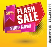 flash sale design for business. ... | Shutterstock .eps vector #1511868644