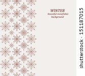winter background with seamless ... | Shutterstock .eps vector #151187015
