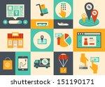 flat design vector illustration ... | Shutterstock .eps vector #151190171