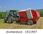 Circular Hay Baler And Tractor...