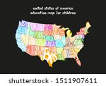 usa map design for children...