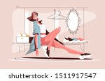 girl in stylish casual clothes... | Shutterstock .eps vector #1511917547