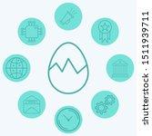 broken egg vector icon sign...   Shutterstock .eps vector #1511939711