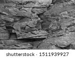 Black White Texture Map Rock...