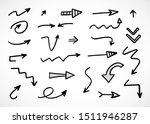 vector set of hand drawn arrows  | Shutterstock .eps vector #1511946287