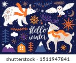 vector winter set of arctic... | Shutterstock .eps vector #1511947841