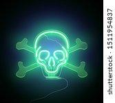 neon sign. retro green neon... | Shutterstock .eps vector #1511954837
